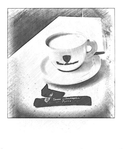 Lamborghini coffee. PicSketch.