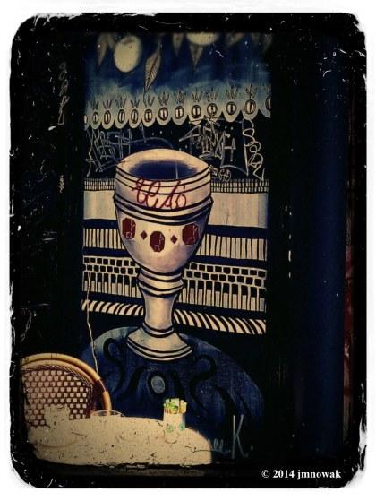 cup artwork vintage