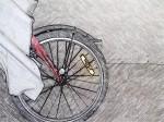 velocipede wheel pencil