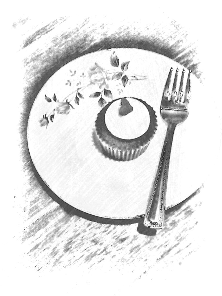 heart cupcake picsketch