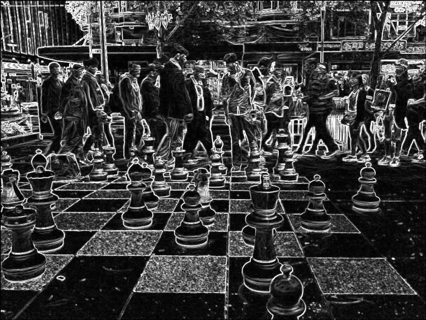 City chess. SketchCamera.