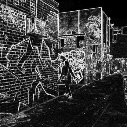 Street art alley in St Kilda.