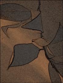 leaf abstract mars