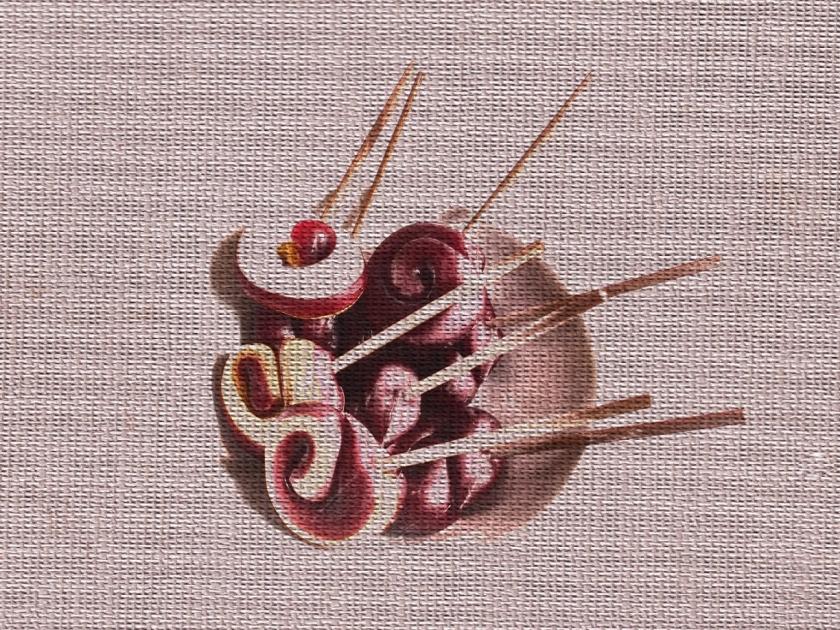 Lollipops. PicSketch. Two views.