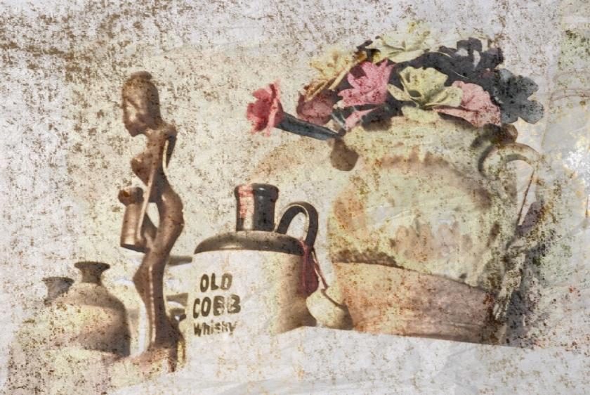 cobb jug flowers figurine