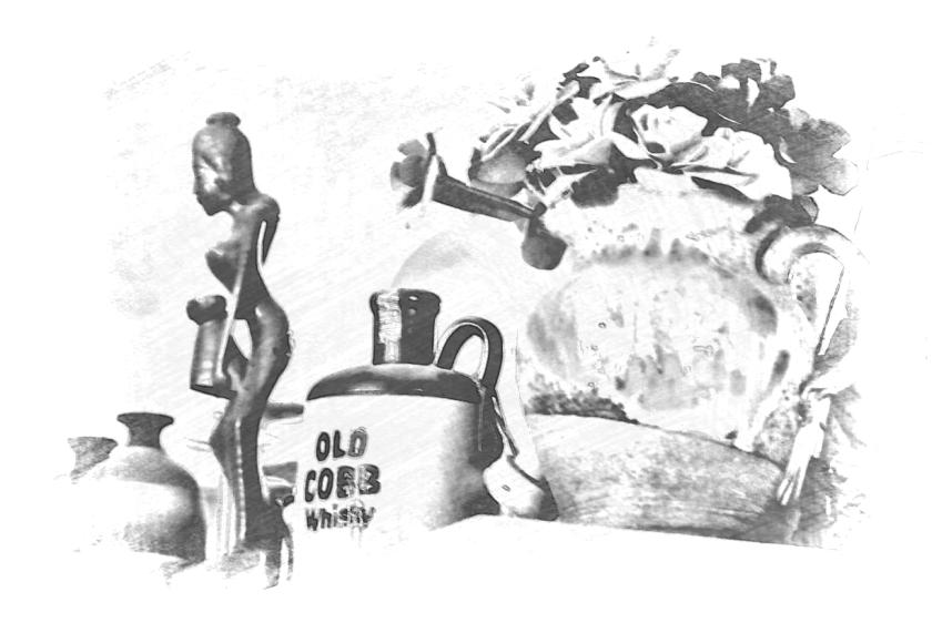 Old Cobb Whisky. PicSketch.