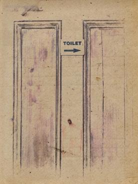 toilet sign door brown