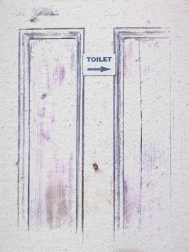 toilet sign door mono