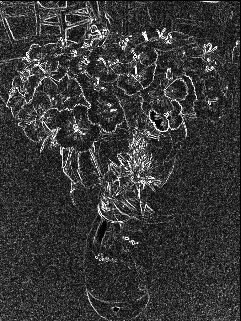 Pretty flowers. SketchCamera. Two views.