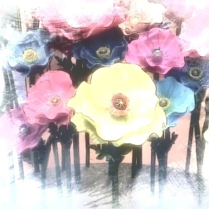 Flower sculpture. Various software.