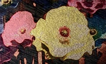 Flowers sculpture. PicSketch. Two views. *Severe crop.