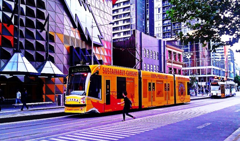 Tram at RMIT. PicturesLab.
