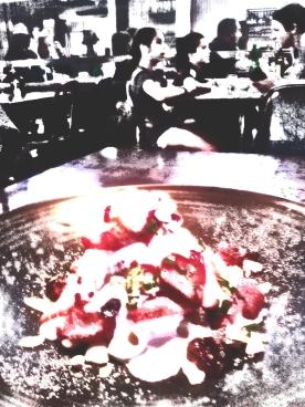 Strawberries + cream. PicSketch. Three views.