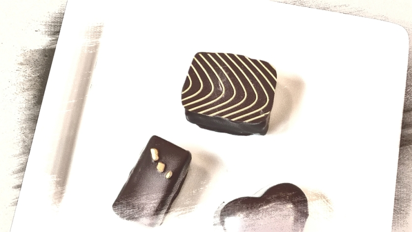 Koko Black chocolates. PicSketch. Two views.