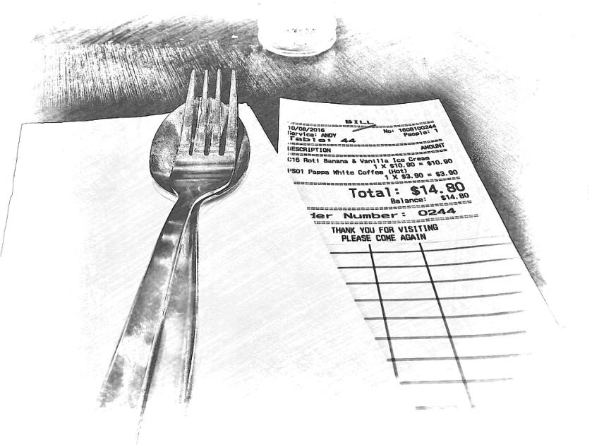 The bill at PappaRich. PicSketch.